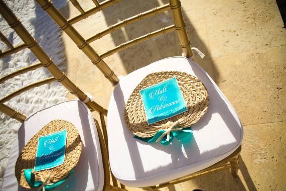 palm leaf raffia hand fans for weddings 2256939 weddbook