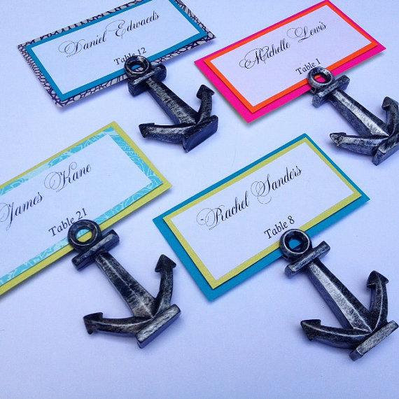 Wedding - Anchor Escort Card, Nautical Escort Card, Beach Wedding - New