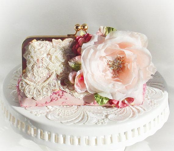 Hochzeit - Vintage Downton Abbey Wedding Clutch