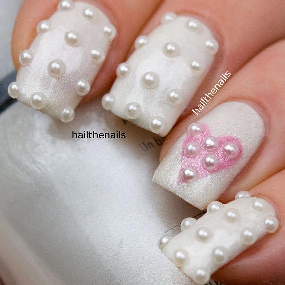 Pearl Studs Nail Art This Seasons Must Have Nails 150 Pearls Per