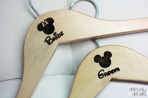 Mariage - Blogiversary Giveaway #2 - Disney Bride And Groom Hangers From Delovely Details