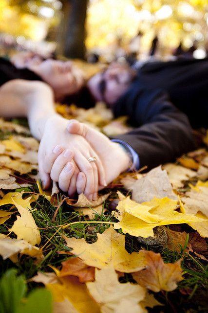 زفاف - Katie & Mike's Small, Black, Autumn Day Wedding