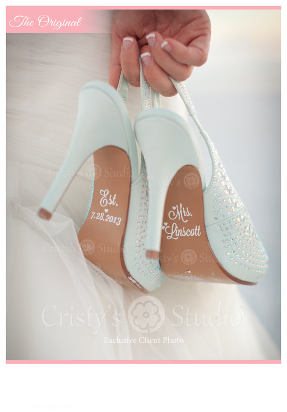 Свадьба - Wedding Shoe Decals - Shoe Decals for Wedding - New