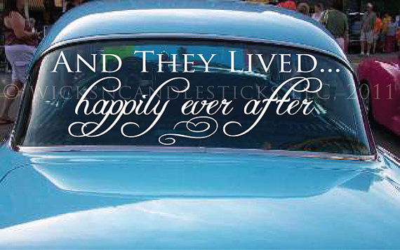 Mariage - Wedding Getaway Car Decals And They Lived Happy Ever After - New