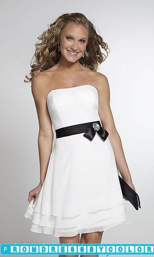 $104 Designer Prom Dresses - Short Strapless Chiffon Bridesmaid ...