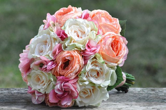 Bridal Bouquets With Cabbage Roses : Wedding bouquet keepsake bridal made