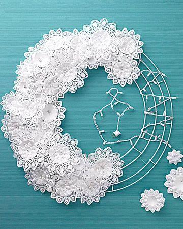 Wedding - Doily Wreath DIY