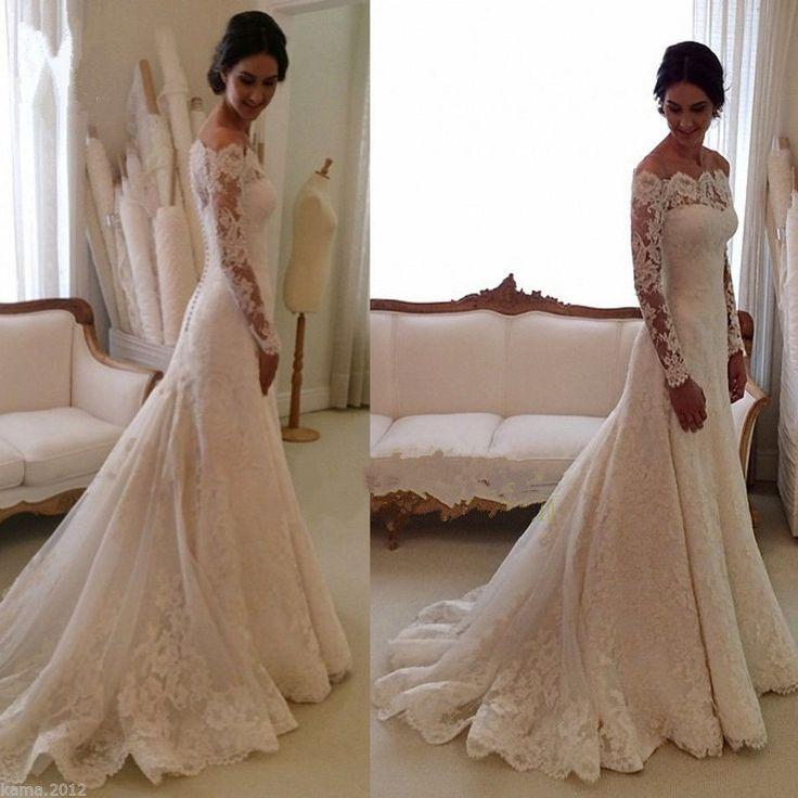 Свадьба - New White/ivory Wedding Dress Bridal Gown Custom Size: 6 8 10 12 14 16 18 20
