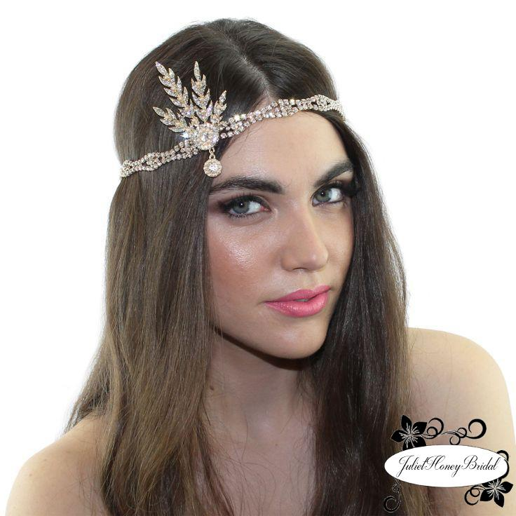 Gatsby Headpiece Pearl Rhinestone Hair Accessory Weddings