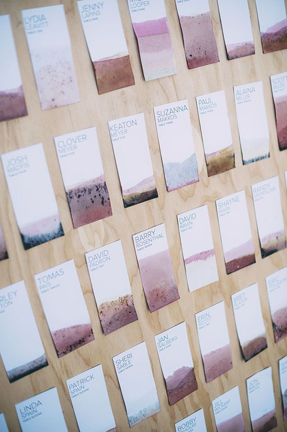 Hochzeit - Diy Escort Cards Or Seating Chart Or Whatever You Call It.