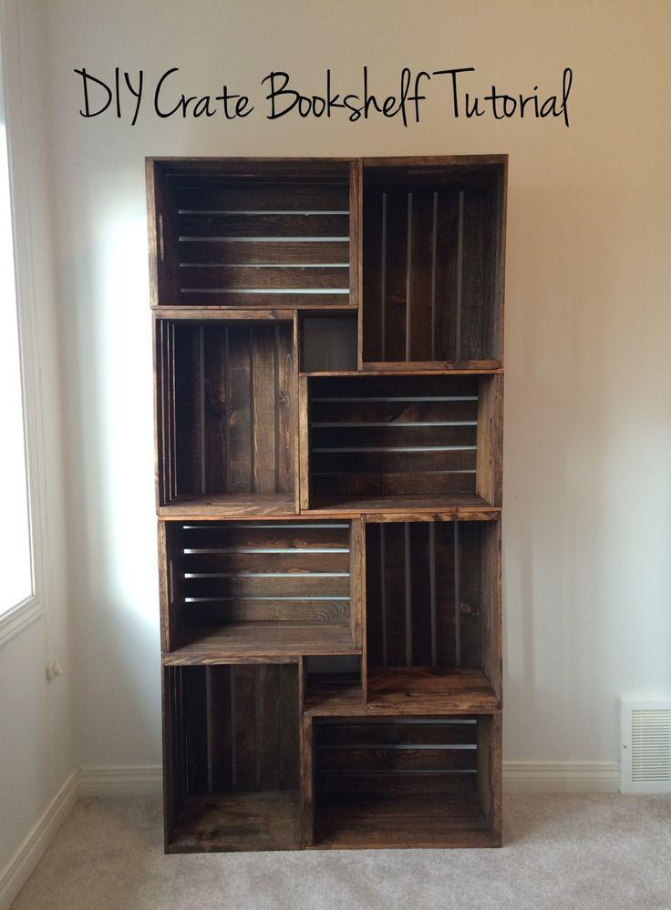 Wedding - DIY Crate Bookshelf Tutorial