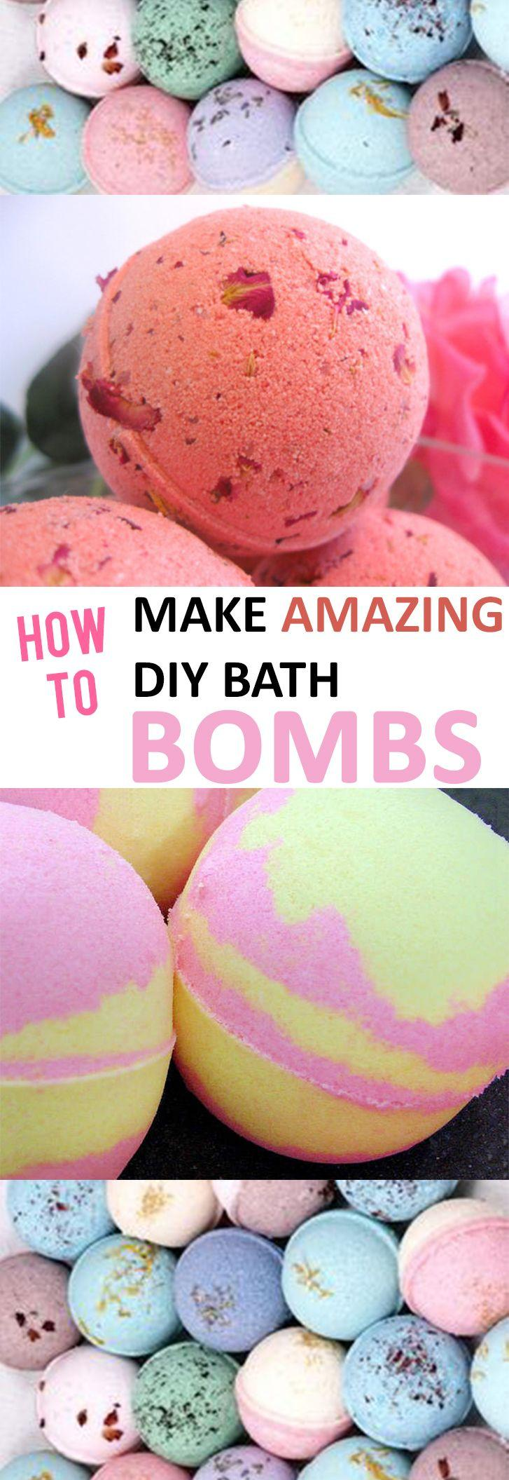 Hochzeit - How To Make Amazing DIY Bath Bombs -