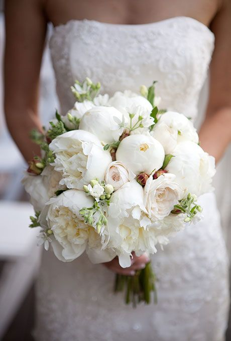 زفاف - 44 Fresh Peony Wedding Bouquet Ideas