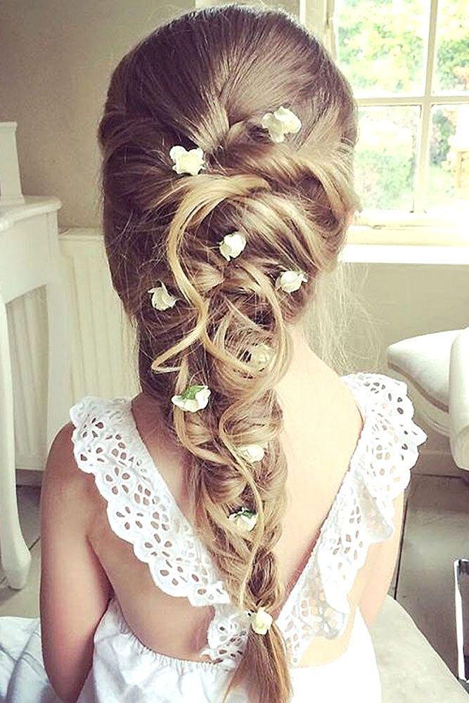 Tremendous Flower Girls Amp Ring Bearers 24 Cute Flower Girl Hairstyles Short Hairstyles Gunalazisus
