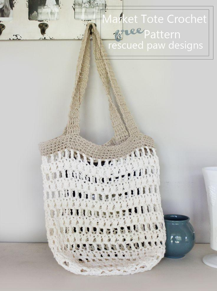 Mariage - Market Tote Bag Crochet Pattern