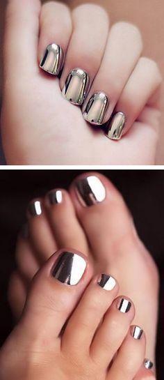 Свадьба - Chrome Nails ?????? L.O.V.E For More Findings Pls Visit Www.pinterest.com/escherpescarves/