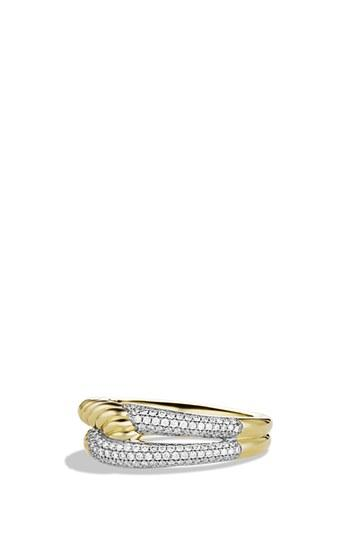 Mariage - David Yurman 'Labyrinth' Single Loop Ring with Diamonds in Gold
