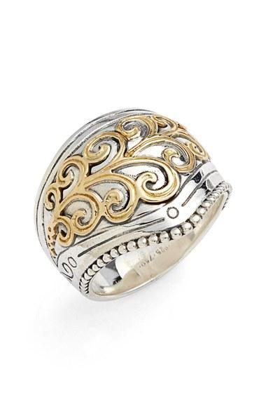 Hochzeit - Konstantino 'Hebe' Swirl Etched Ring