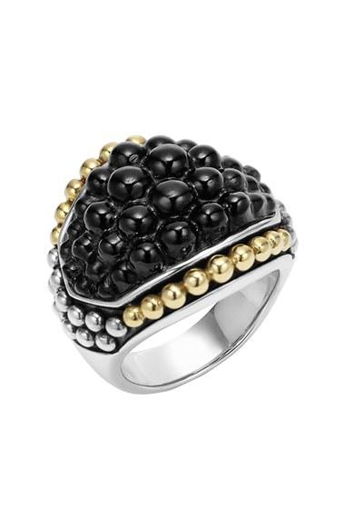 Mariage - LAGOS 'Black Caviar' Dome Ring