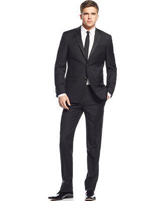 Hochzeit - DKNY DKNY Extra Slim-Fit Black Tuxedo