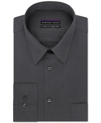 Hochzeit - Geoffrey Beene Geoffrey Beene Men's Big and Tall Classic-Fit Wrinkle Free Bedford Cord Solid Dress Shirt