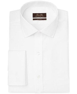 Hochzeit - Tasso Elba Tasso Elba Classic-Fit Non-Iron Twill Solid French Cuff Dress Shirt, Only at Macy's