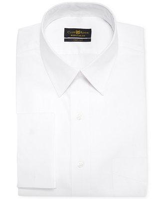 Свадьба - Club Room Club Room Estate Classic-Fit White Solid French Cuff Dress Shirt