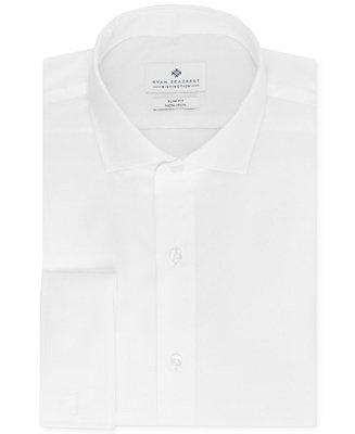 Hochzeit - Ryan Seacrest Distinction Ryan Seacrest Distinction Men's Slim-Fit Non-Iron French Cuff Shirt, Only at Macy's