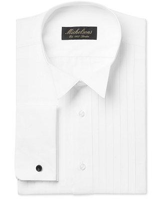Свадьба - Michelsons Michelsons Classic-Fit Pleated Point French Cuff Tuxedo Shirt
