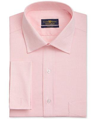 Wedding - Club Room Club Room Men's Classic/Regular Fit Big & Tall Wrinkle Resistant Powder Pink French Cuff Dress Shirt, Only at Macy's