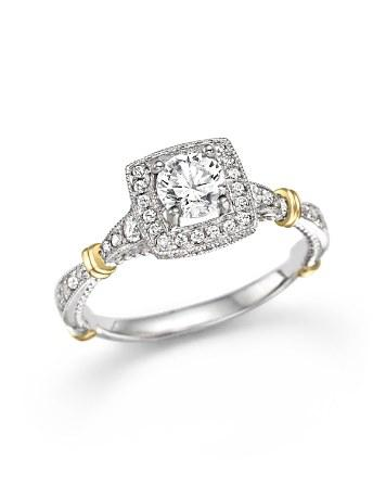 Mariage - Bloomingdale's Certified Diamond Ring in 14K White Gold, .85 ct. t.w.