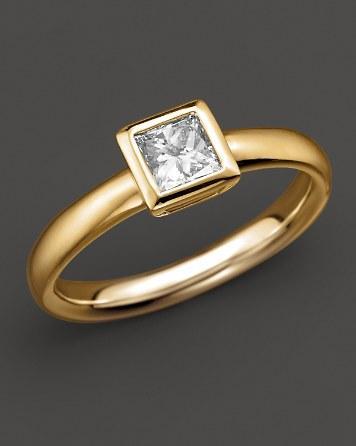 زفاف - Bloomingdale's Bezel-set Princess Cut Diamond Ring in 18 K Yellow Gold, 0.50 ct. t.w.