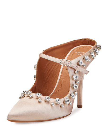 Mariage - Crystal-Trim Mary Jane 110mm Mule, Nude Pink
