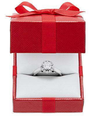 زفاف - X3 X3 Certified Diamond Engagement Ring (1 ct. t.w.) in 18k White Gold