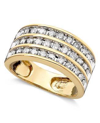 Свадьба - Three-Row Diamond Ring (1 ct. t.w.) in 14k Gold