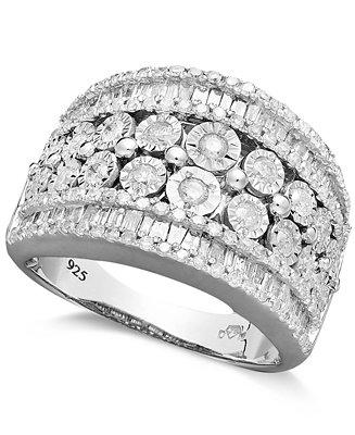 زفاف - Diamond Band Ring in Sterling Silver (1-1/4 ct. t.w.)