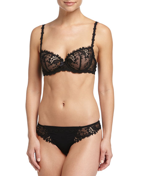 Свадьба - Wish Lace Demi Cup Bra, Black