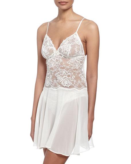 Wedding - Love Magicienne Lace Nightie, Dentelle Nacre