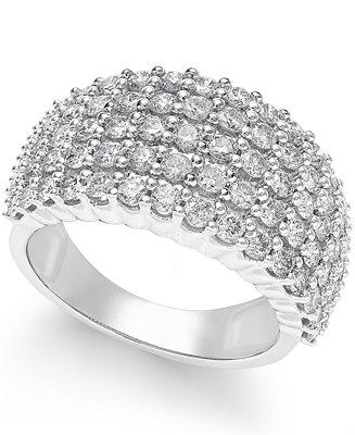 Hochzeit - Macy's Diamond Band (2 ct. t.w.) in 14k White Gold