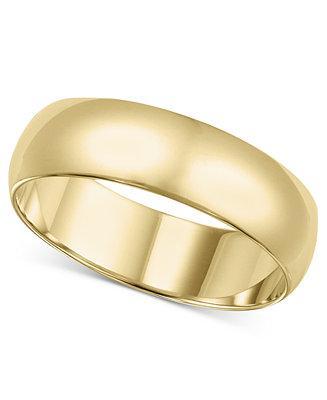 زفاف - 14k Gold 6mm Wedding Band