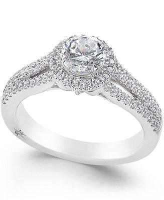 Свадьба - Marchesa Marchesa Certified Diamond Halo Ring (1 ct. t.w.) in 18k White Gold