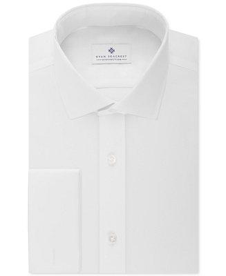 Wedding - Ryan Seacrest Distinction Ryan Seacrest Distinction Slim-Fit Non-Iron Ultimate White French Cuff Dress Shirt, Only at Macy's
