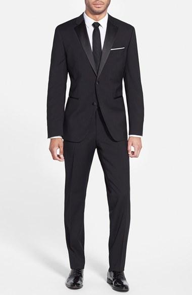 Wedding - BOSS 'The Stars/Glamour' Trim Fit Wool Tuxedo