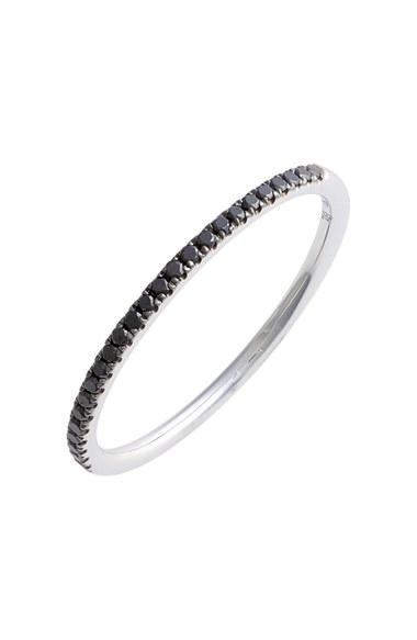 Hochzeit - Bony Levy 'Stackable' Straight Diamond Band Ring (Nordstrom Exclusive)