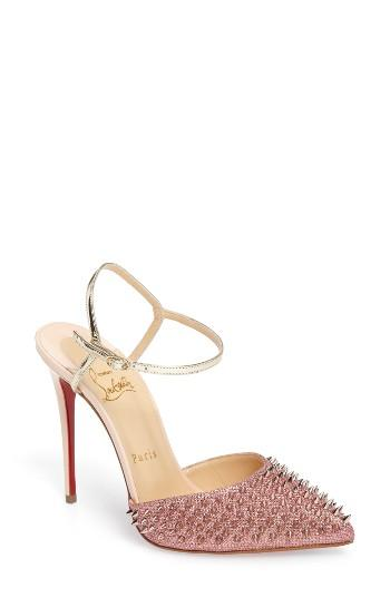 Wedding - Christian Louboutin 'Baila Spike' Ankle Strap Pump
