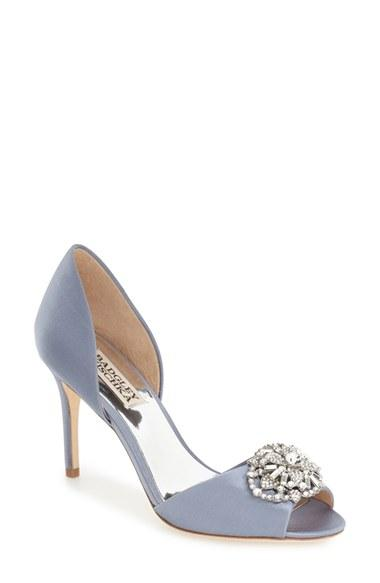 Wedding - Badgley Mischka 'Dana' Crystal Embellished d'Orsay Pump (Women)