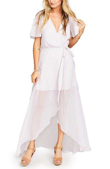 Wedding - Show Me Your Mumu Flutter Sleeve Wrap Gown