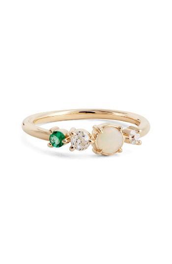 Wedding - MOCIUN Emerald, Opal & Diamond Ring