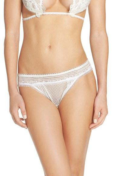 Wedding - For Love & Lemons Bordeaux Thong