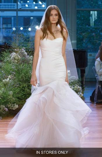 Mariage - Monique Lhuillier Hailee Strapless Silk Gazar Fit & Flare Gown (In Stores Only)